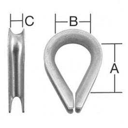 Úchytka lanová - očnica do   4 mm Zn /2ks/