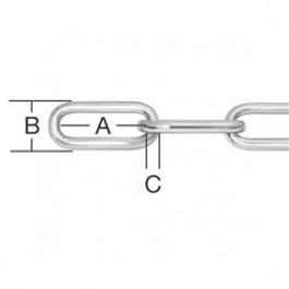 Reťaz z ocele 2 mm Zn forma C
