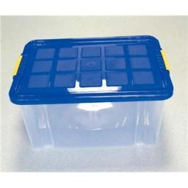 Box s vrchnákom modrý 40x30x20cm  16l