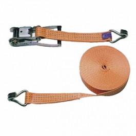 Pás upínací račňový 4t, 8m/50mm, 2-dielny, oranžový, KERBL