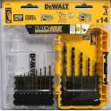 DEWALT DT70727 14-dielna súprava vrtákov do kovu Black&Gold