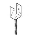 """DOMAX PS 100U Pätka stĺpiku typu """"U"""" ZNG 101x120x60x4,0 mm"""