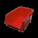 Box stohovací červeny veľ. 2-111 168x111x76mm   (60x)