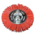 Osborn kefa nylon okrúhla  Grittyflex 75mm  zr.80 červená