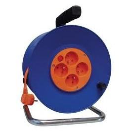 Kábel predlžovací na bubne 50m 3x1,5mm guma 4x zásuvka